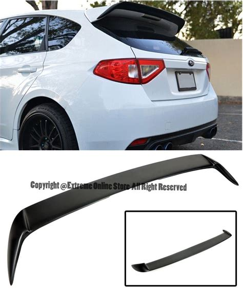 subaru hatchback spoiler for 08 14 subaru wrx sti hatchback rear add on wagon wing