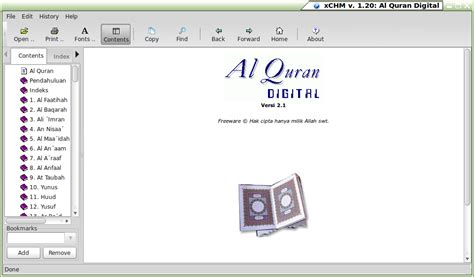 tutorial linux mint indonesia menu gt islamic software gt al qur an digital 2 1 linux