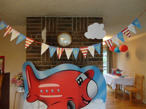 airplane themed birthday decorations up up and away threemparties
