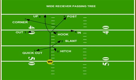 football tree wr basics routes and the passing tree shakin the southland
