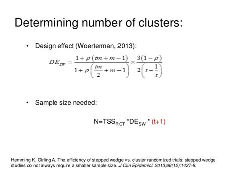 calculation design effect stata an introduction to the stepped wedge cluster randomised trial