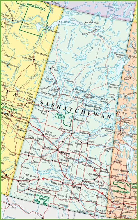map of saskatchewan canada saskatchewan road map