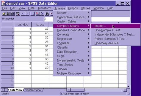 tutorial on spss spss tutorial basic analyses