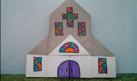 distintivos para iglesia origami sigue este tutorial para hacer una iglesia de