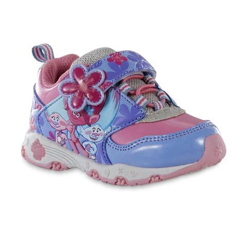 light pink infant shoes dreamworks girls trolls pink purple light up