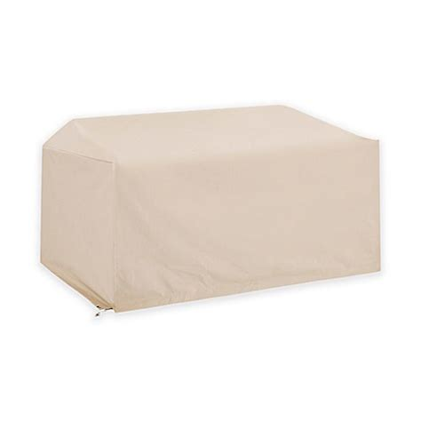 crosley outdoor loveseat furniture cover  brown bed bath