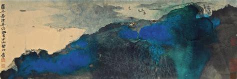 znag painting zhang daqian overlooking the gongting lake china