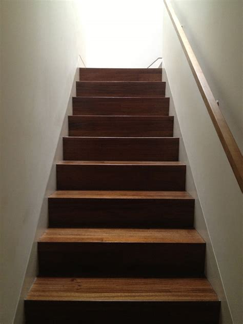 Best Flooring For Stairs Walnut Stair To The Studs