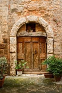 old doors of tuscany italy stock photo colourbox