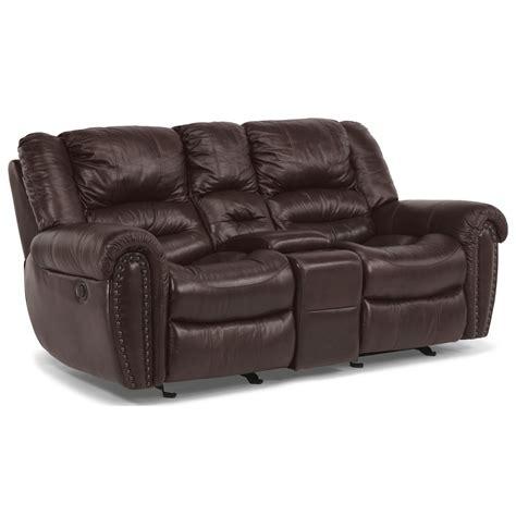 flexsteel crosstown sofa flexsteel crosstown dual reclining love seat with console