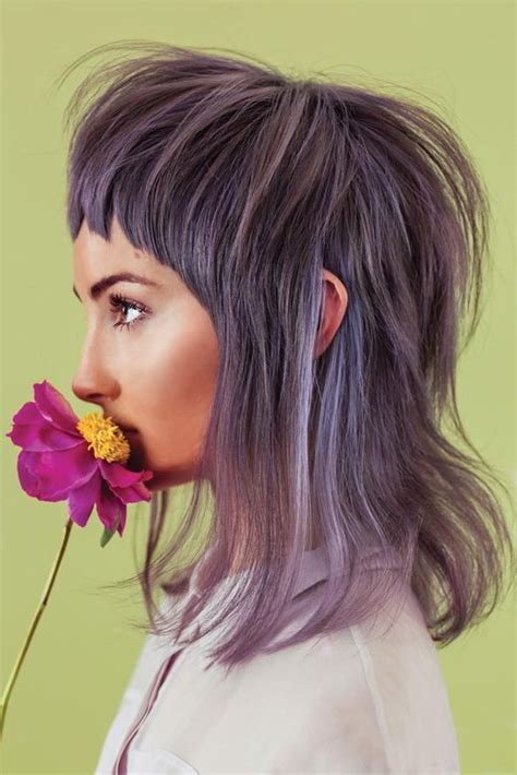 modern day mullet hairstyles lavender grey modern quot mullet quot hair client inspiration