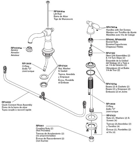 parts of a bathtub faucet parts diagram for victorian two handle bathroom faucet