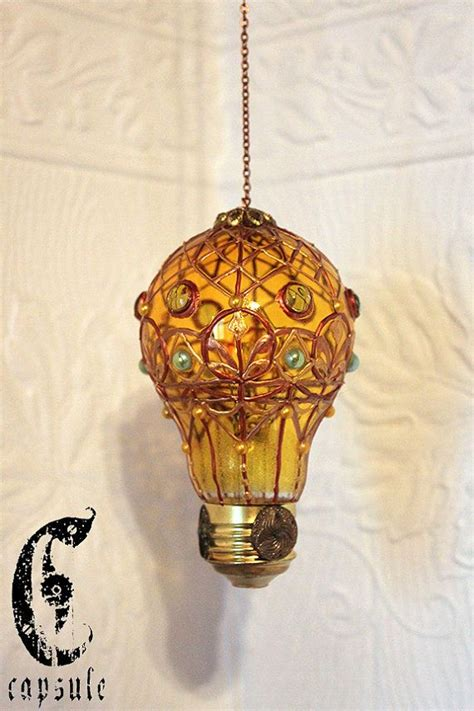 diy stained glass light bulb decorative ornament yellow stained glass light bulb