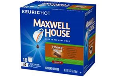 Maxwell House K Cups by Maxwell House Decaf House Blend Coffee K Cup R Packs 18 Ct Box Kraft Recipes