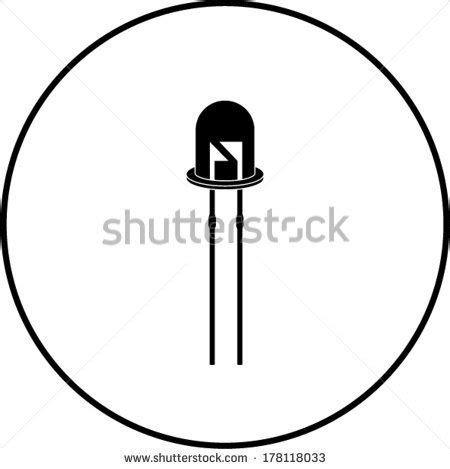 diode and led symbols light emitting diode led stock illustration 38446606