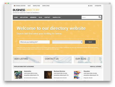 joomla templates for business directory joomla business directory template 28 images vantage