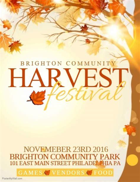 Harvest Festival Template Postermywall Harvest Festival Flyer Free Template