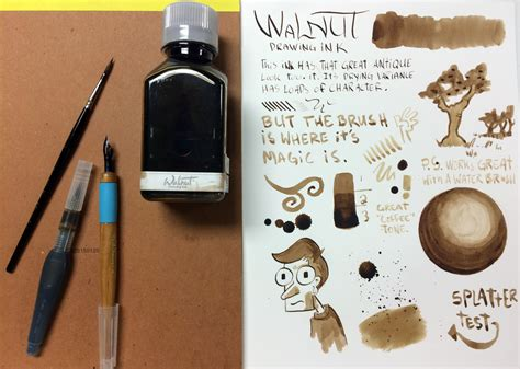 How To Get Ink by Tom Norton Walnut Drawing Ink Review The Pen Addict