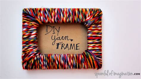Handmade Photo - diy yarn picture frame spoonful of imagination