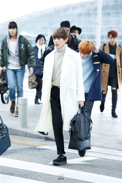 bts airport fashion 150129 bts v kim taehyung incheon airport bts