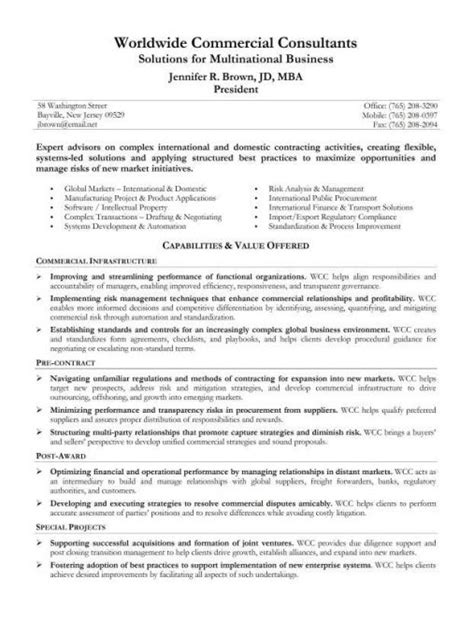 Sle Of A Resume Summary Statement Sales Resume Summary