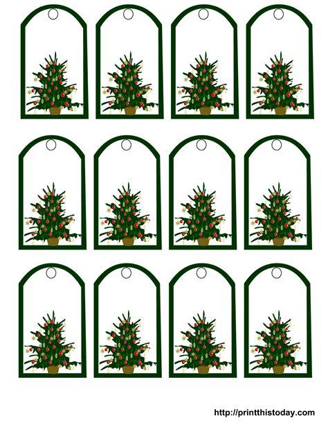 Printable Christmas Tree Gift Tags | free printable christmas gift tags featuring christmas tree