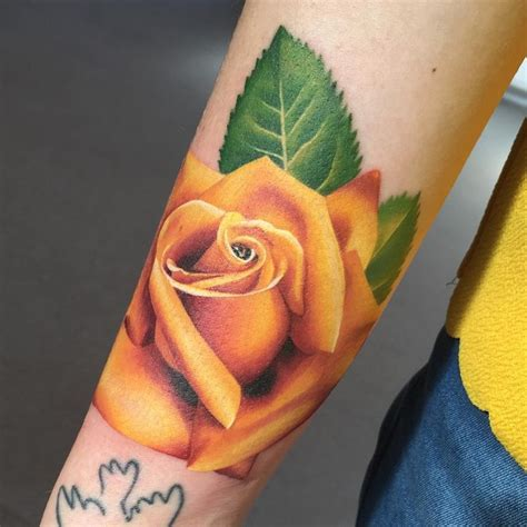 tattoos of yellow roses best 25 yellow tattoos ideas on