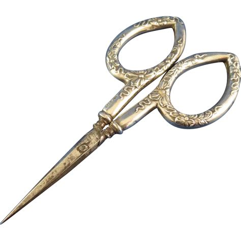 german sewing scissors small german sterling sewing scissors with floral repouss 233