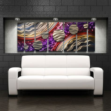 home decor painting large metal wall art panels modern contemporary abstract