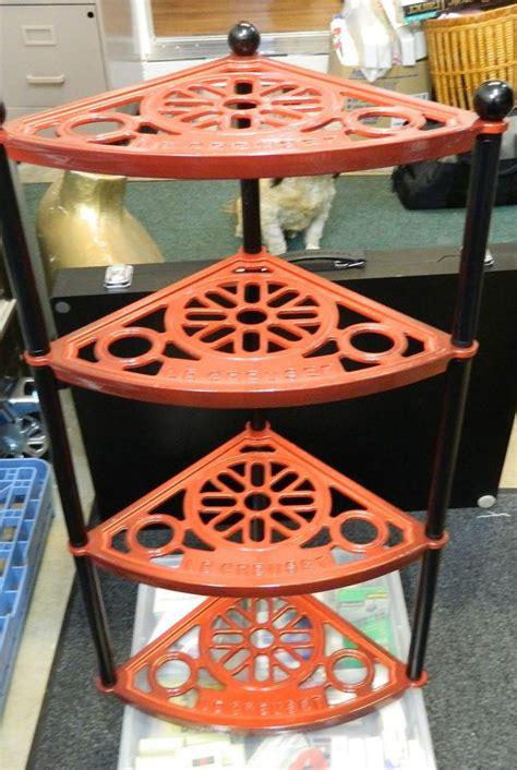 Le Creuset Pot Rack le creuset corner cast iron pot rack