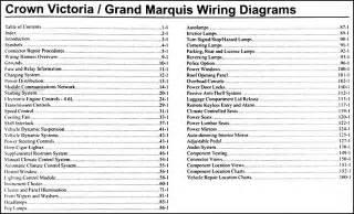 2006 crown grand marquis original wiring diagram manual