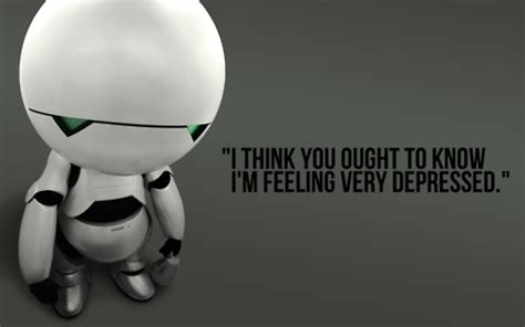 marvin the paranoid android hitchhikers marvin depressed quotes quotesgram