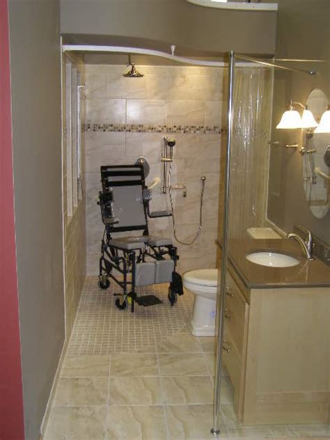 Handicap Bathroom Showers Wheelchair Accessible Shower Bathroom Shower Base And Entry Design Cleveland Columbus Ohio