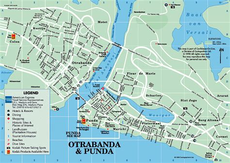 willemstad netherlands antilles map downtown willemstad