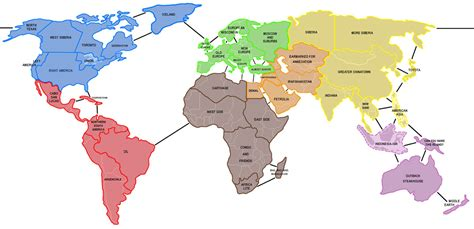 simple world map with country names simple world map with country names