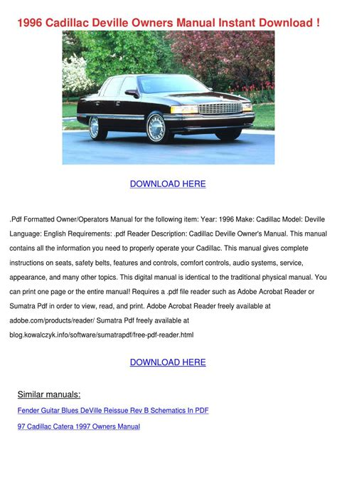 old cars and repair manuals free 1996 chevrolet g series g30 spare parts catalogs service manual old car owners manuals 1996 cadillac deville on board diagnostic system