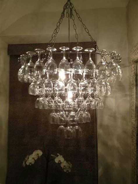 How To Make A Wine Glass Chandelier Wine Glass Chandelier
