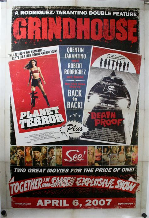 grind house grindhouse double feature planet terror death proof quentin tarantino original