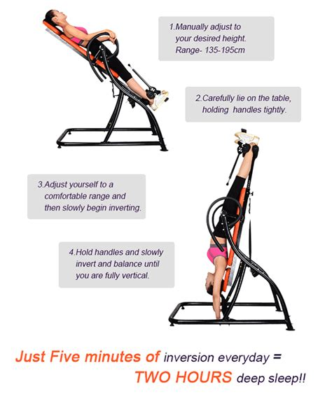 how to use an inversion table for lower back genki pro gravity inversion table fitness home