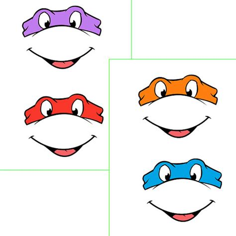 turtle mask template instant turtles with for by