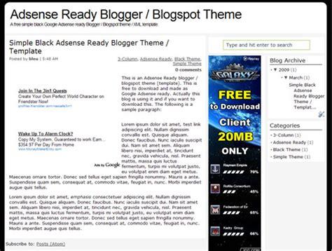 adsense on blogger adsense ready seo friendly blogger template blogspot