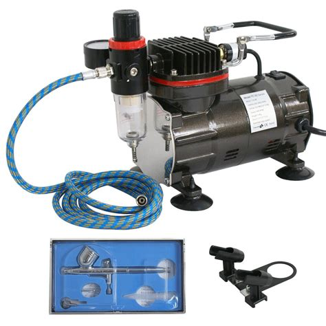 airbrush system kit w air on demand function air compressor hobby painting ebay