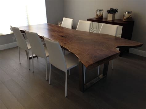 Walnut Live Edge Dining Table Live Edge Table Live Edge Dining Table Walnut Dining Table Item 27