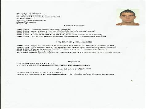 Exemple De Cv étudiant by Exemple De Cv 233 Tudiant Pour Mcdo Resume Template