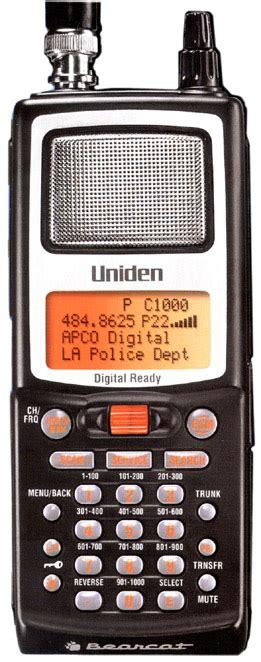 uniden bearcat  digital scanner bcd