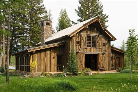 Rustic Cabin Plans by Rustic Cabin In Swan Valley Made Mainly Of Wood And Stone