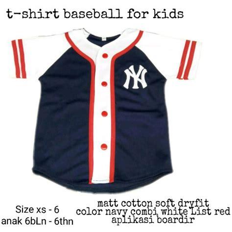 jual kaos t shirt anak baseball ny kaos anak baseball