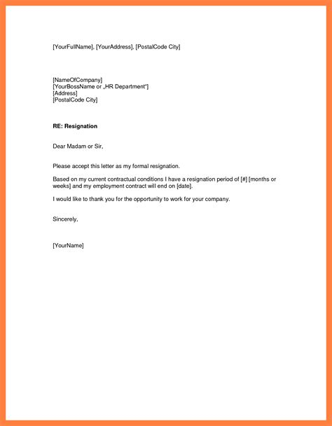 employment resignation letter template thevictorianparlor co
