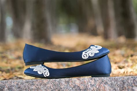 Navy Blue Flats For Wedding by Wedding Flats Navy Blue Wedding Flats Bridal Shoes Navy