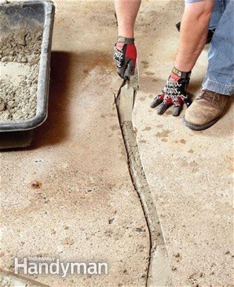 How To Fix Cracked Concrete Garage Floor by Diy Concrete Repair